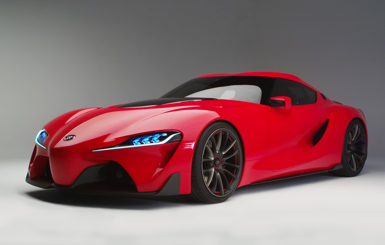 Photo wallpaper red, concept, car, sports coupe, Toyota FT-1