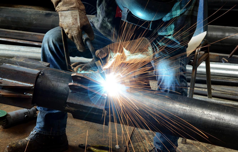 Photo wallpaper welder, welding, worker, metallurgical