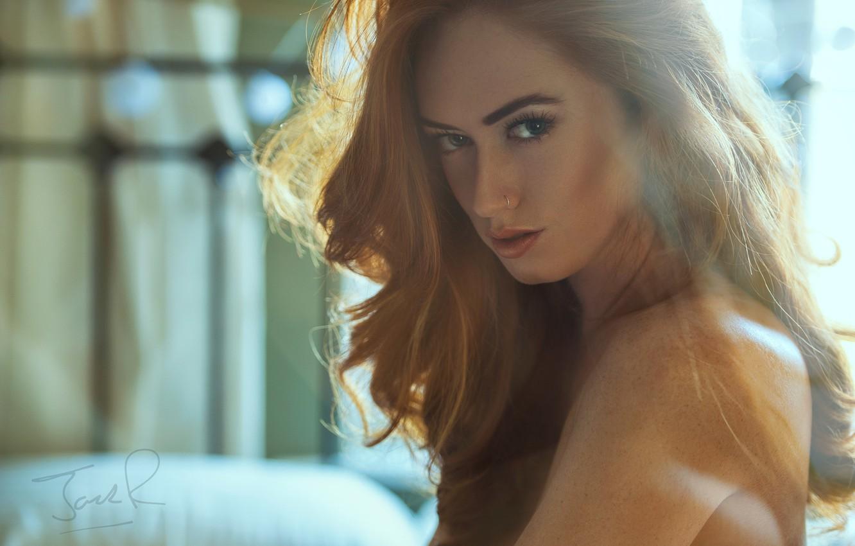 Photo wallpaper look, girl, model, hair, red, girl, photographer, model, Jack Russell, Jenny O'sullivan