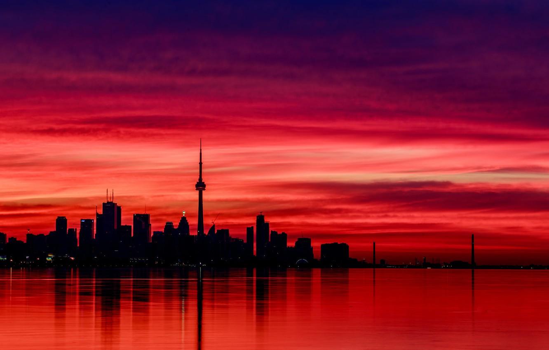 Wallpaper Reflection The Evening Canada Canada Evening