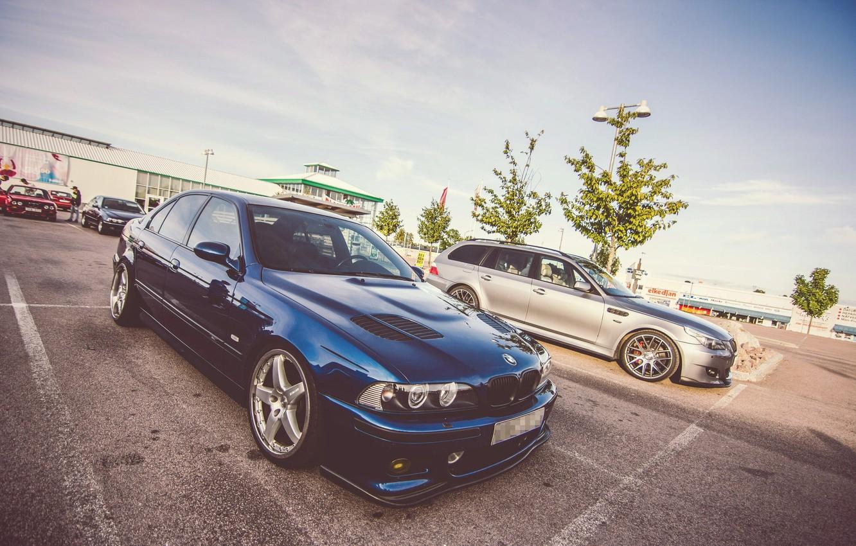 Photo wallpaper BMW, Blue, Sedan, E39