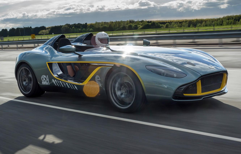 Photo wallpaper car, Aston Martin, road, speed, CC100, Speedster Concept