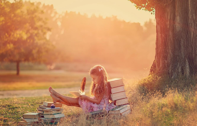 Photo wallpaper summer, pen, books, girl, creativity, The Letter