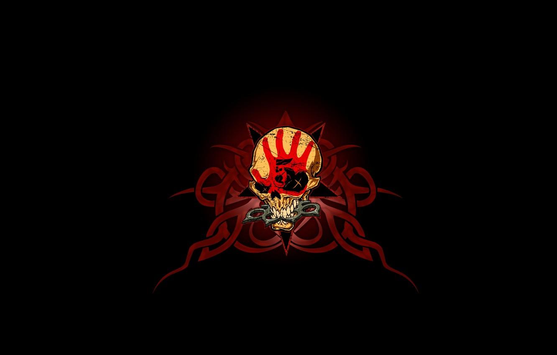 Photo wallpaper pattern, skull, sake, Five Finger Death Punch, knuckles