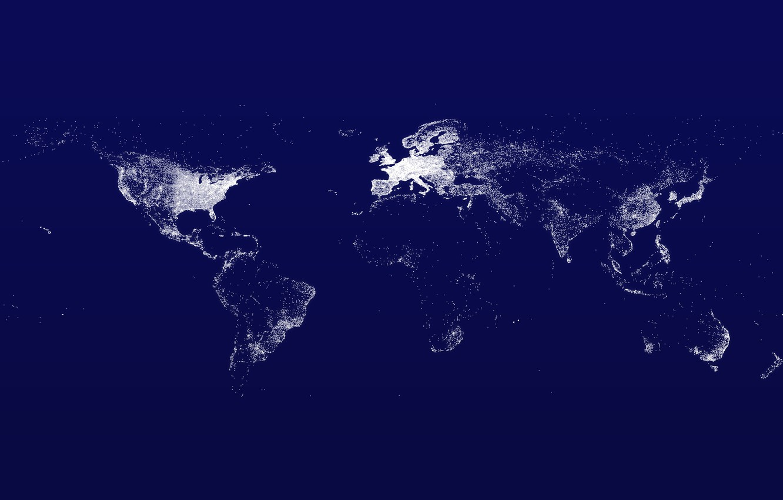 Photo wallpaper world map, Internet, Map, Internet