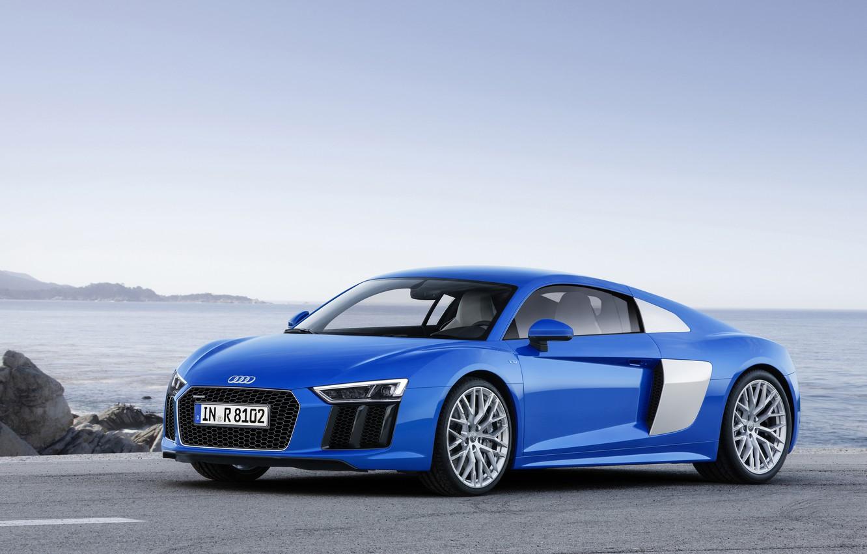 Photo wallpaper blue, Audi, Audi, V10, 2015
