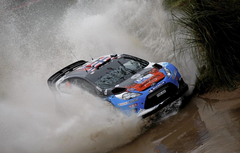 Photo wallpaper Ford, Squirt, WRC, Fiesta, Mads Ostberg