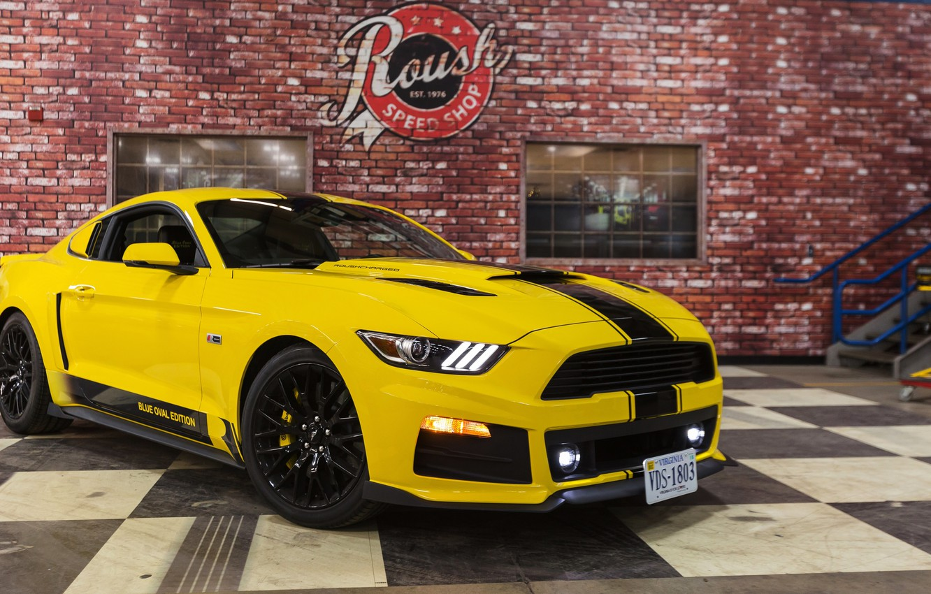Photo wallpaper tuning, Mustang, Ford, Shelby, Mustang, Ford, Shelby, GT350, Roush, 2015, R2300, Blue Oval Edition