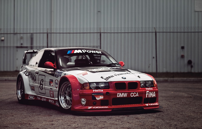 Photo wallpaper BMW, sport, E36, gts-2, PTG