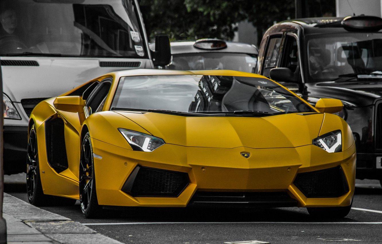 Photo wallpaper car, street, Lamborghini, sport, Lamborghini, Aventador, aventador, Zsolt, super car, machine., sport cars, LP640 yellow