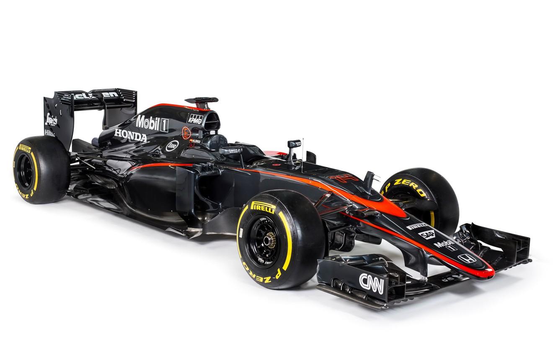 Photo wallpaper McLaren, formula 1, the car, Honda, Formula 1, Honda, McLaren, 2015, MP4-30