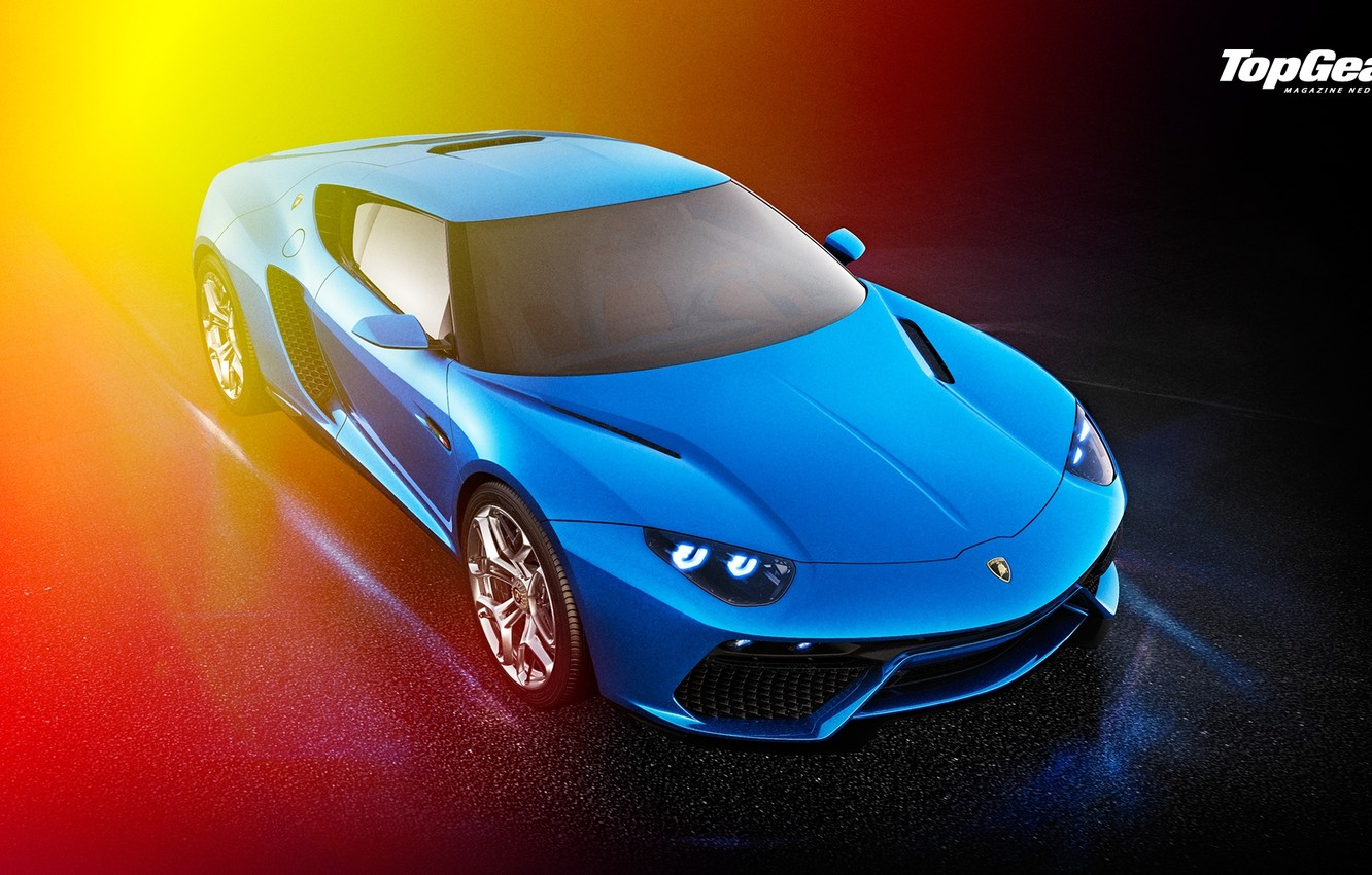 Photo wallpaper Lamborghini, Top Gear, Blue, Front, Asterion, LPI 910-4