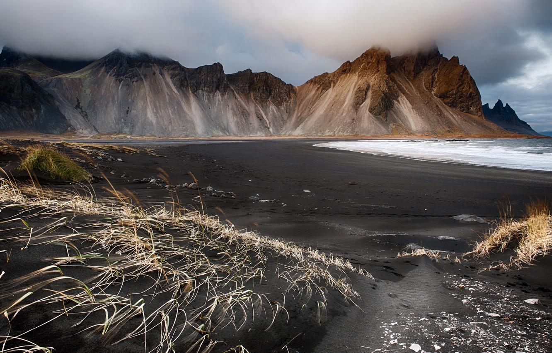 Photo wallpaper sea, landscape, rocks, shore