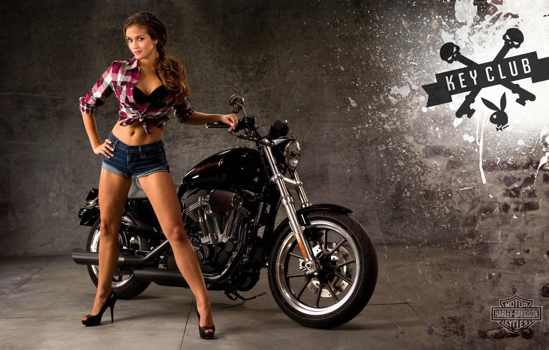 Wallpaper Girl Moto Motorcycle Harley Davidson Images For