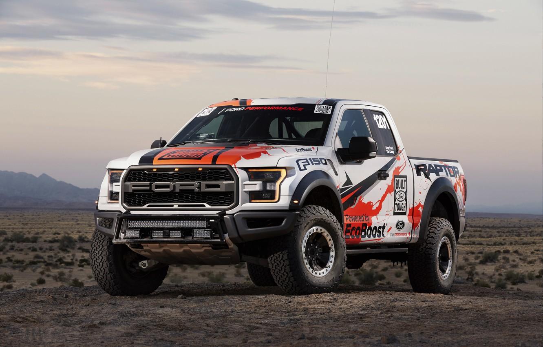 Photo wallpaper Raptor, 2017, Ford F-150, Race Truck