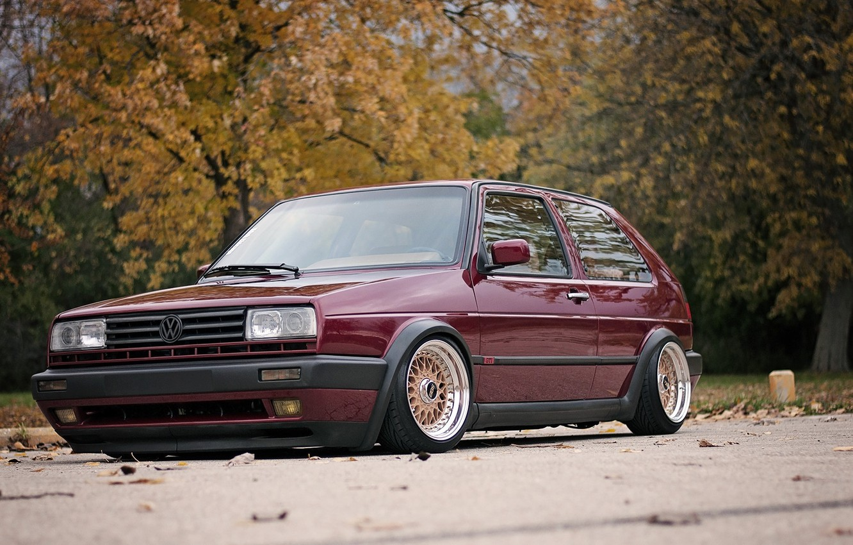 Photo wallpaper Volkswagen, Golf, Tuning, Mk2 GTI