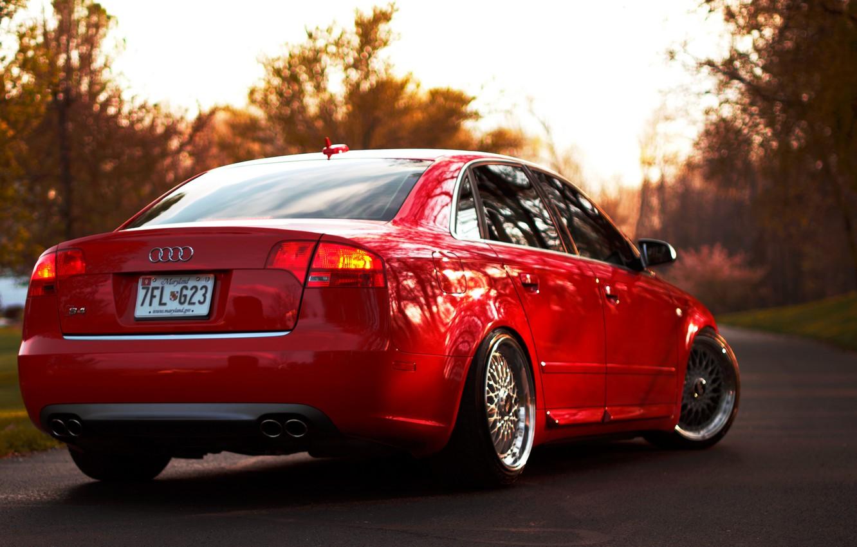 Photo wallpaper Audi, audi, red, red, bbs
