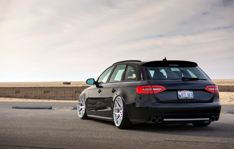 Photo wallpaper Audi, Audi, side, black