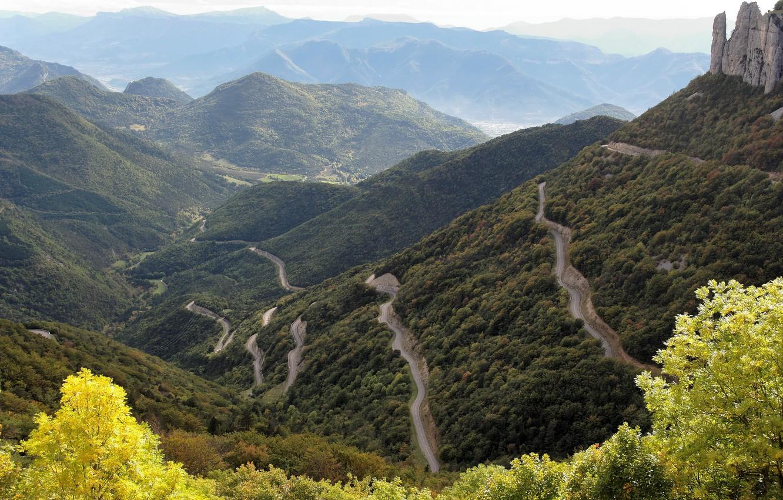 Photo wallpaper wallpaper, road, mountain