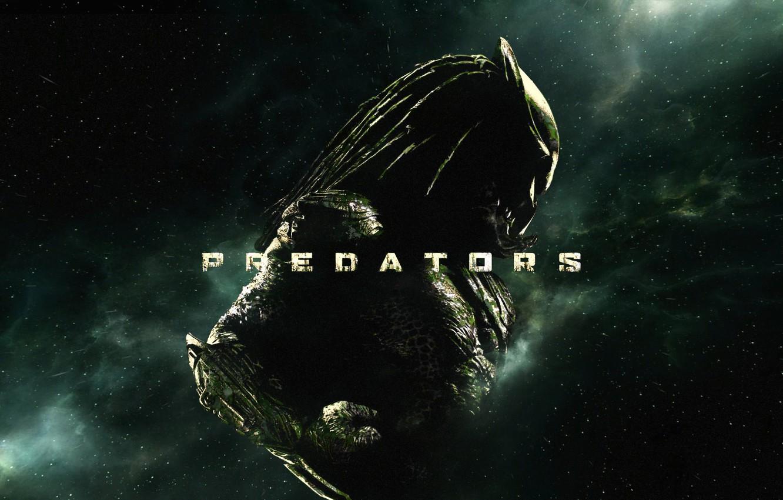 Photo wallpaper space, predator, stars, alien, predator