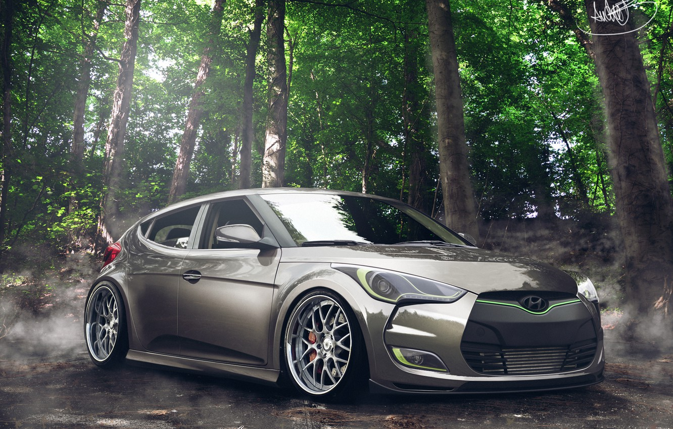 Photo wallpaper Hyundai, Tuning, Veloster, by Asoares