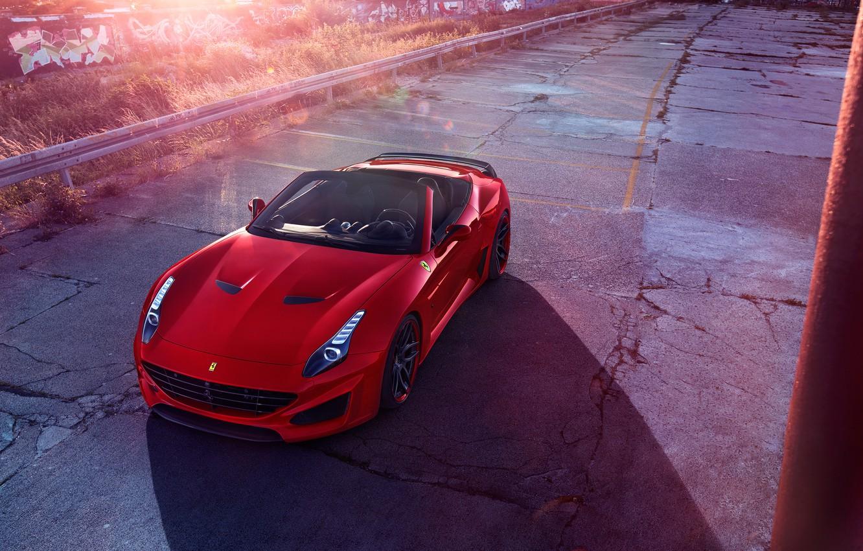 Photo wallpaper Ferrari, Ferrari, CA, Novitec Rosso, Pininfarina, 2015, California T