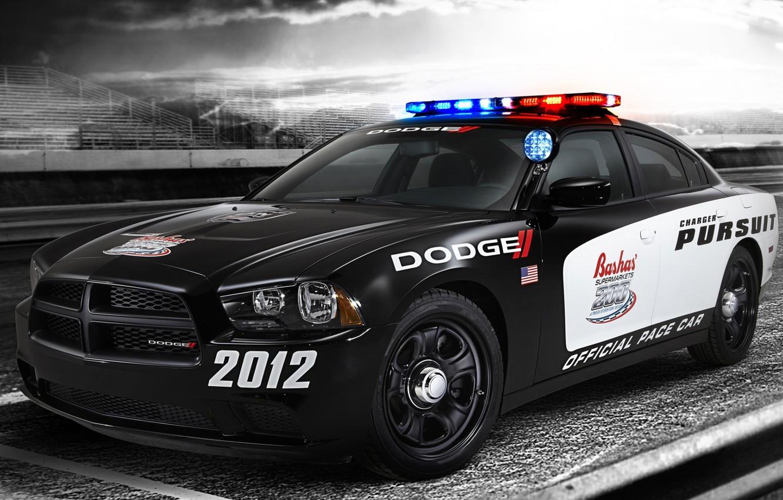 Photo wallpaper Dodge, muscle car, Dodge, Charger, the front, tribune, the charger, Muscle car, Pursuit, Pace Car