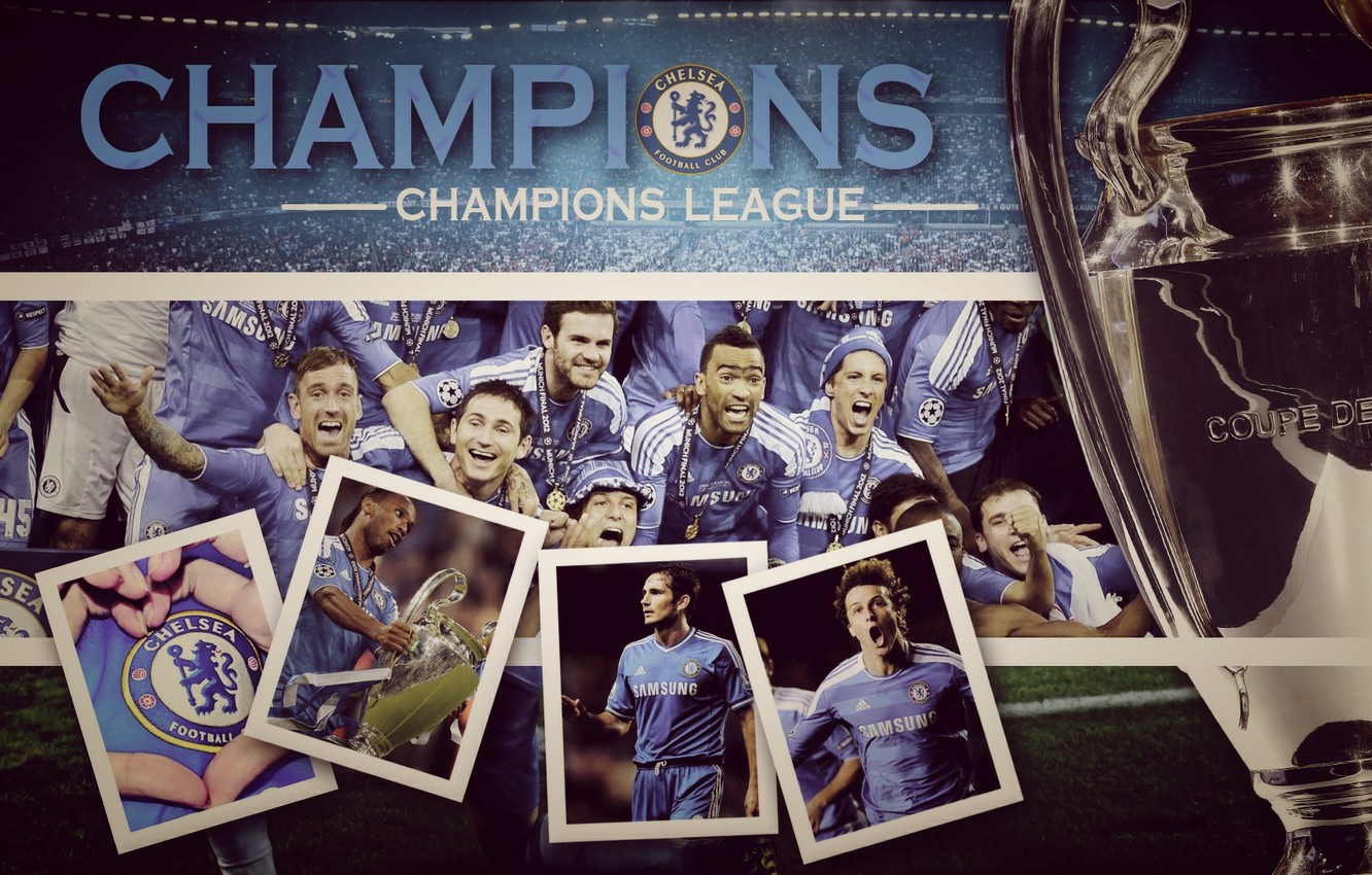 Photo wallpaper gold, football, the final, Cup, champions, Chelsea, Champions League, UEFA, chelsea