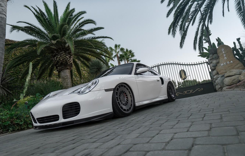 Photo wallpaper Porsche, White, 996, Rotiform, boden, Turbo Accuair