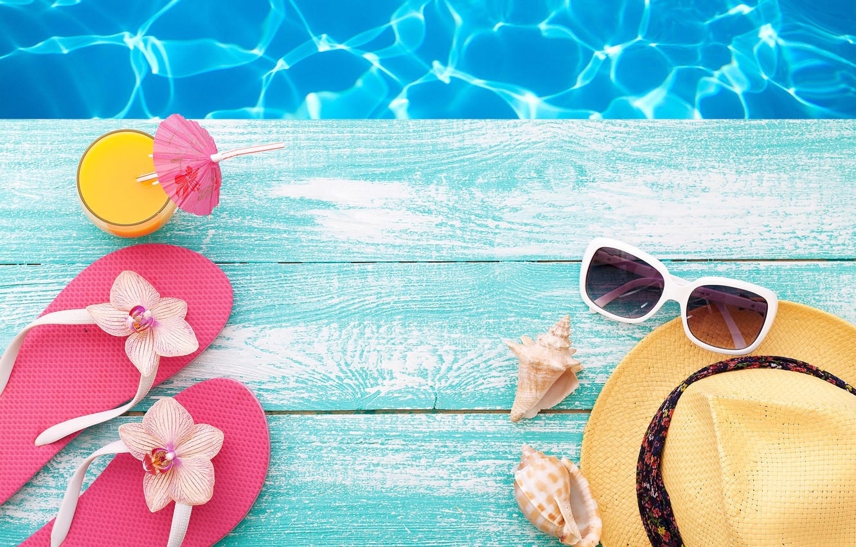 Wallpaper Beach Summer Stay Hat Pool Glasses Summer