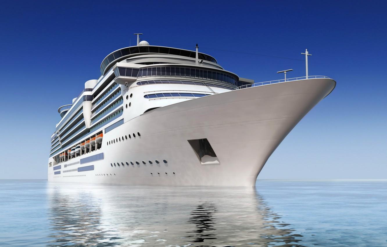 Photo wallpaper Ship, liner, Cruise, 3D Graphics, photon