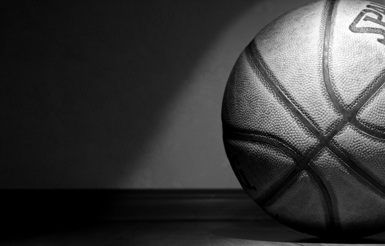 Wallpaper The Ball Black And White Basketball Spalding