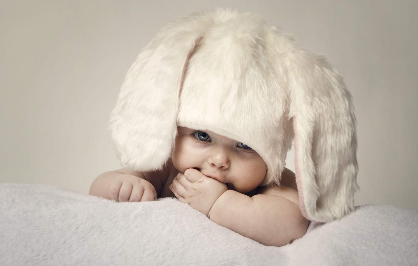 Wallpaper Children Baby Easter Cute Hat Hats Easter Children Kid Happy Child Happy Baby Large Beautiful Blue Eyes Big Beautiful Blue Eyes Child Child Cute Images For Desktop Section Raznoe Download