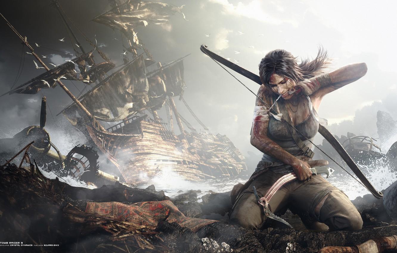 Photo wallpaper lara croft, tomb raider, Lara Croft