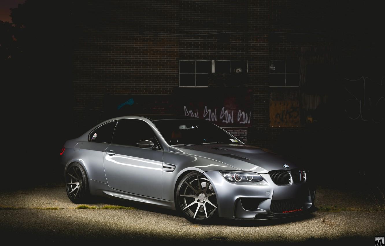 Photo wallpaper car, night, bmw m3, rechange