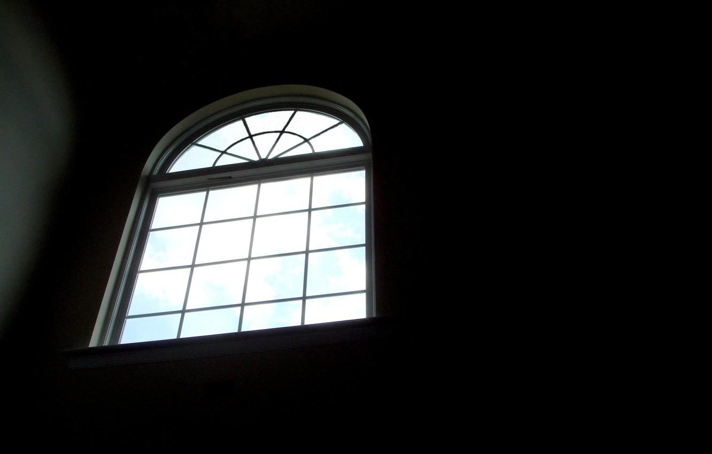 Photo wallpaper window, black