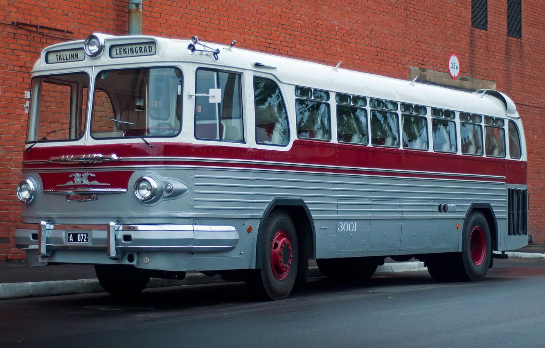 Photo wallpaper bus, first, Soviet, ZiS-127, 1955–56, long distance