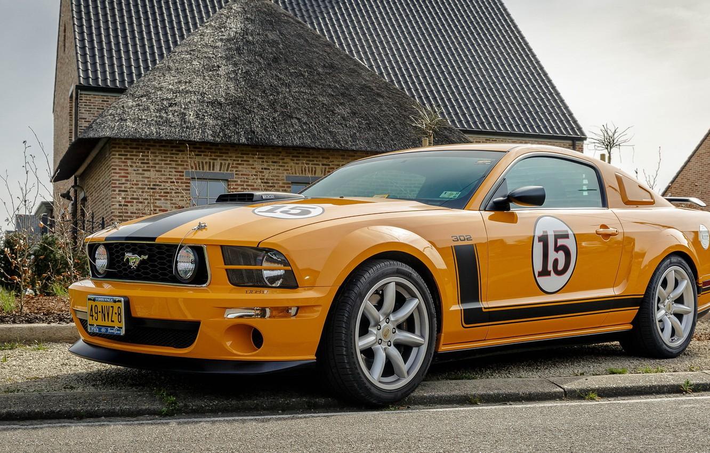Photo wallpaper Mustang, Ford, Saleen, 302, Jones, Parelli