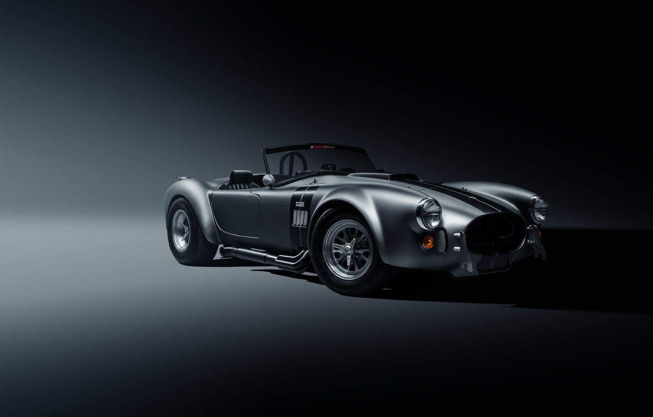 Photo wallpaper Shelby, Muscle, Car, Front, Cobra, Silver, SS Customs