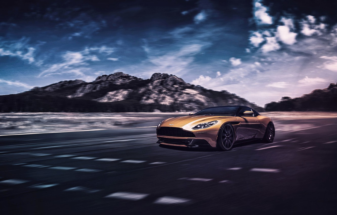 Photo wallpaper Concept, Aston Martin, Light, Front, Supercar, DB11