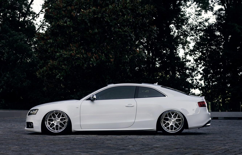 Photo wallpaper Audi, Audi, profile, white, white