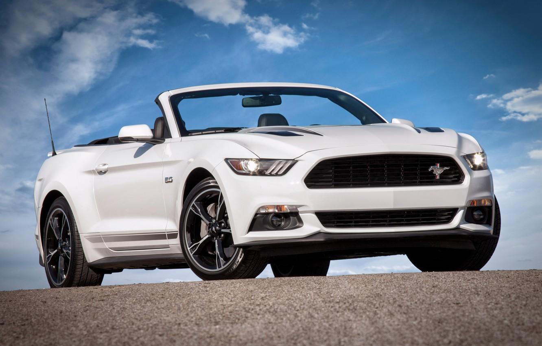 Photo wallpaper Mustang, Ford, Mustang, convertible, Ford, Convertible, 2015, California Special