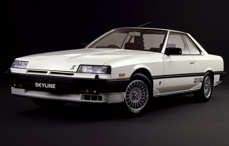 Photo wallpaper Machine, White, Nissan, Japan, Nissan, Car, Car, Skyline, Old, Japanese, 2000 Turbo, 1983–85, RS-X