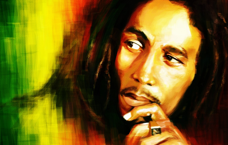 Photo wallpaper look, figure, Bob Marley