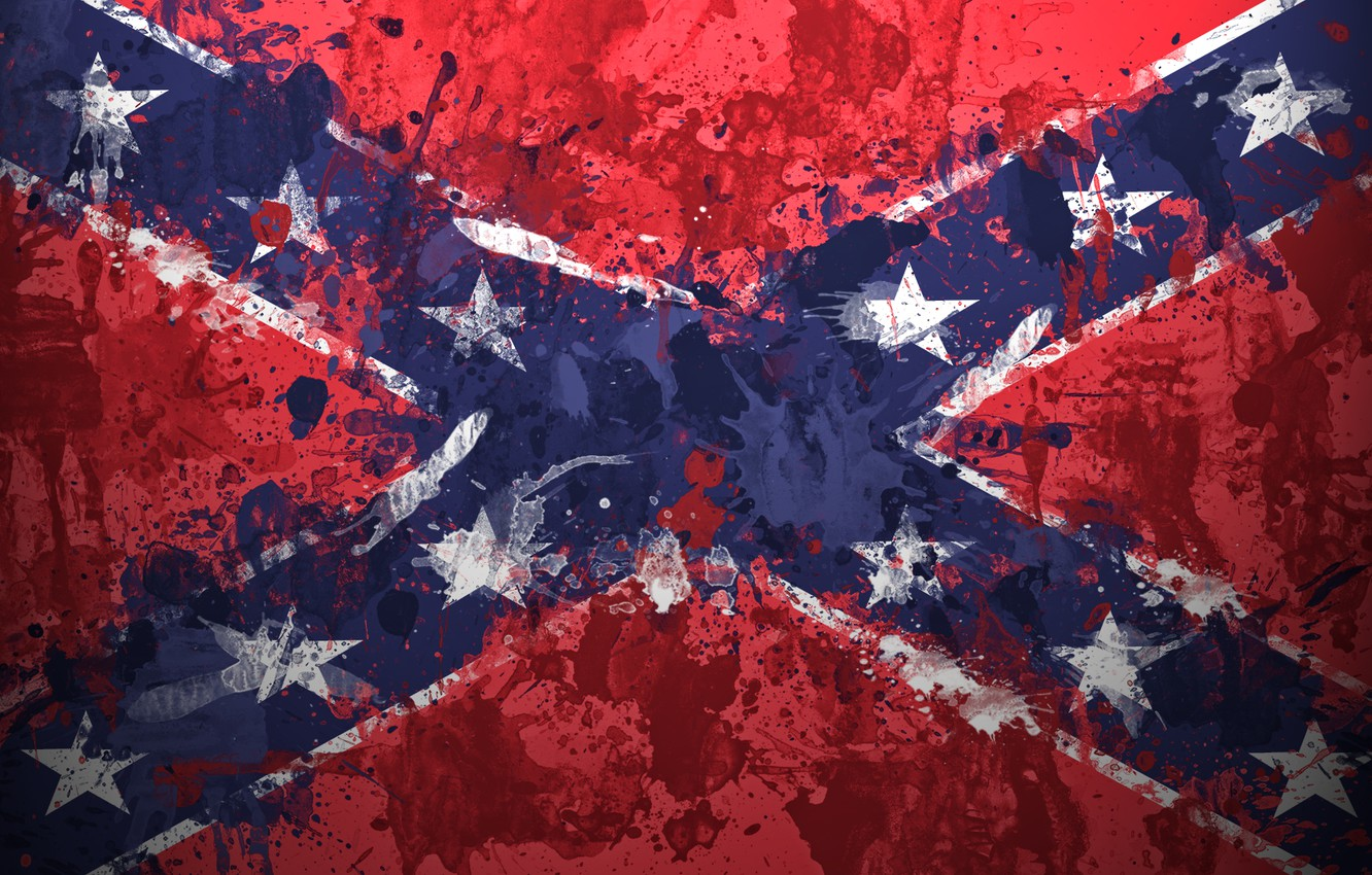 Wallpaper Paint Stars Flag The Confederate Flag Confederate