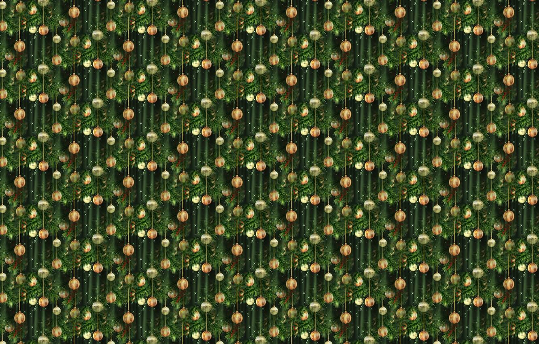 Photo wallpaper background, holiday, texture, art, New year, herringbone, Christmas balls