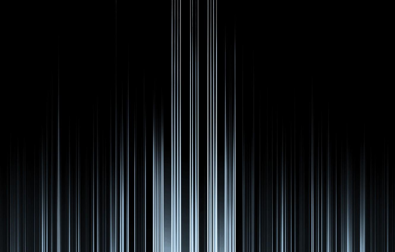 Photo wallpaper line, white, black background