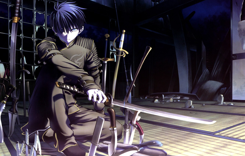 Photo wallpaper sword, Anime, Tsukihime, view., Shiki Tohno