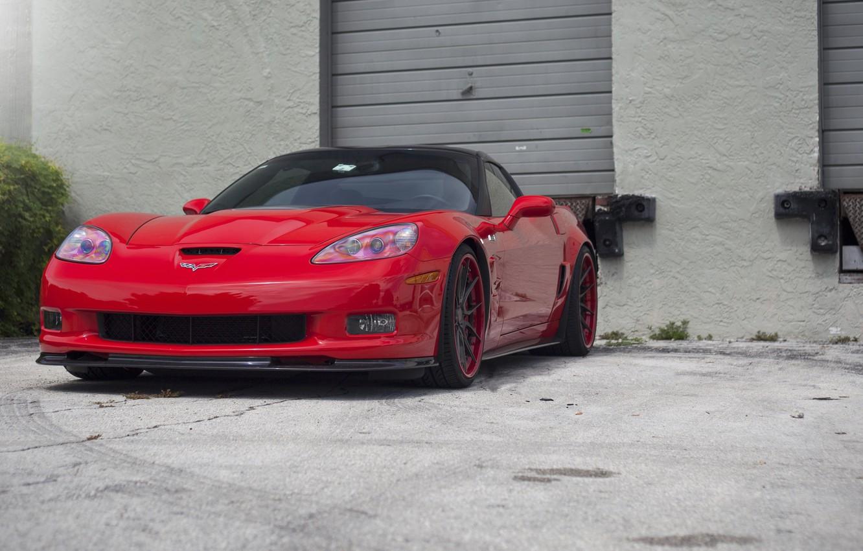 Photo wallpaper Corvette, Chevrolet, ZR1, on ADV1 5.0, Track Spec CS