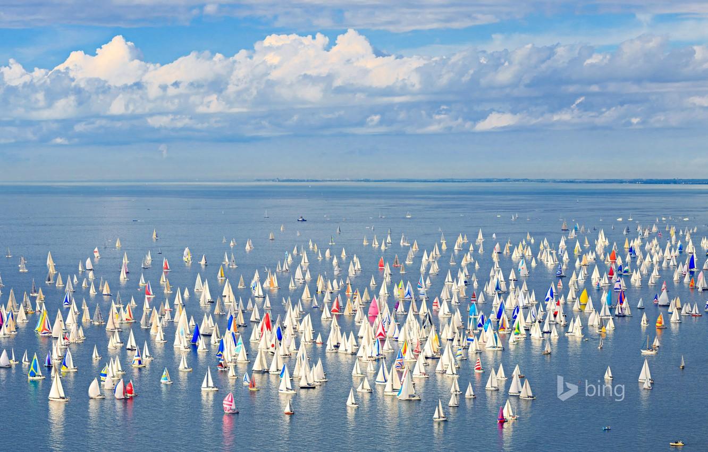 Photo wallpaper sea, the sky, yacht, Italy, sail, Trieste, regatta Barcolana